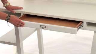 Choose This Functional Trestle Desk For Organized Storage | Pbteen