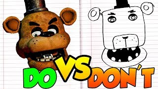 DOs DON Ts Drawing Five Nights At Freddy s In 1 Minute CHALLENGE
