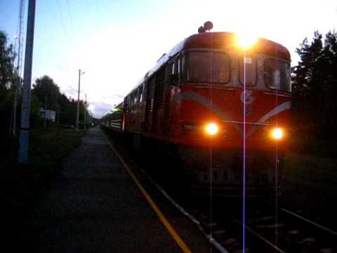[LG] Lietuvos Geležinkeliai - Lithuanian Railways express train from Vilnius via...
