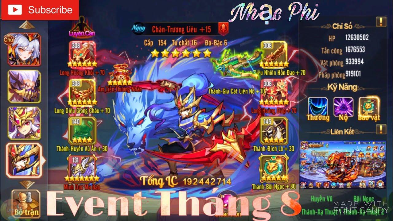 OMG 3Q | Event Tháng 8 – Mừng Phiên Bản Mới Cùng Số 1 Việt Nam – TỐP 1 Nhạc Phi Quá Mạnh