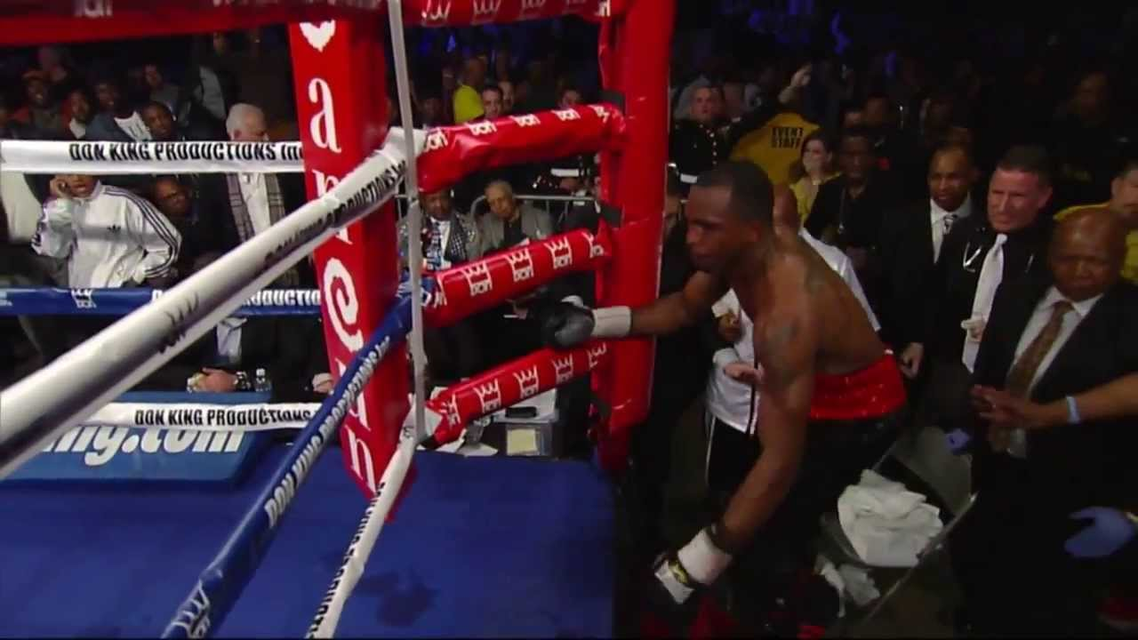 Boxer Falls Out Of Ring