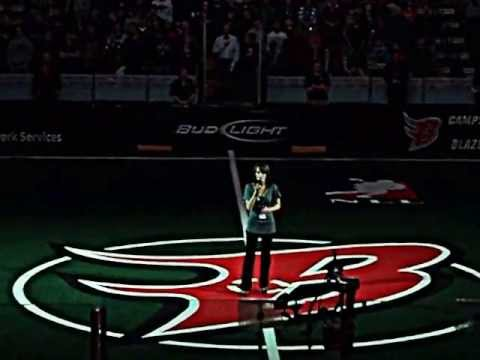 The Star Spangled Banner Before the Boston Blazers Game