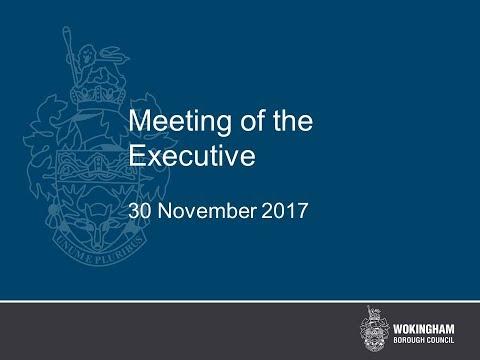 Meeting of the Executive 30 November 2017