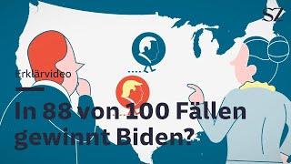 Trump oder Biden - In 88 von 100 Fällen gewinnt Biden?