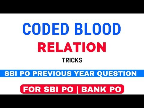Coded Blood Relation Reasoning Tricks For SBI and Bank PO [In Hindi]