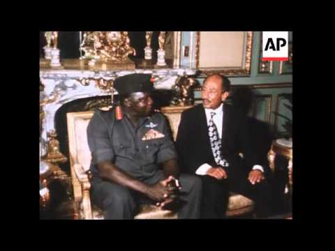 Idi Amin At The Start Of A Visit To Egypt, Three-Day Visit To The Sudan