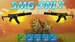 SMG ONLY.. DON'T TRY THIS! (Fortnite Battle Royale)