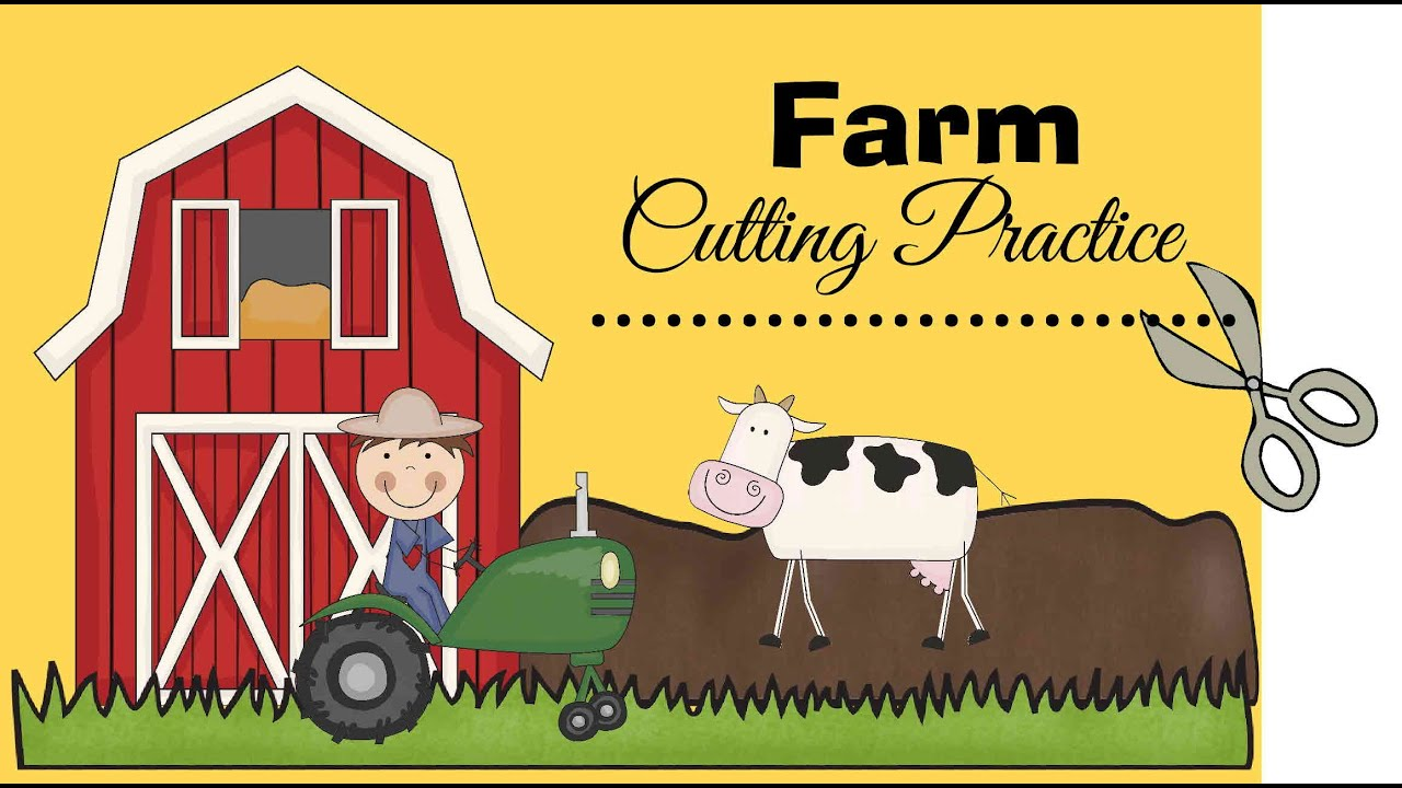 Farm Cutting Worksheets For Kids Youtube