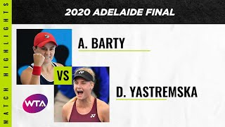 Ashleigh Barty vs. Dayana Yastremska | 2020 Adelaide International Final | WTA Highlights