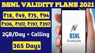Bsnl validity recharge plans 2021 | Bsnl validity kaise badhaye | Bsnl recharge plans & offers 2021