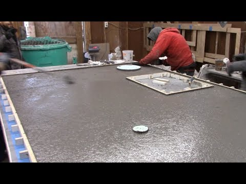 GFRC Casting a Large Concrete Island the Easy Way with Trinic, Glass Fiber Reinforced Concrete