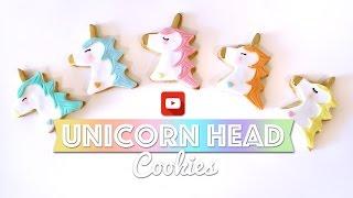 Unicorn Head Cookies Tutorial