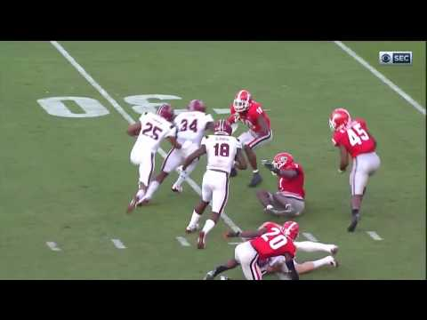 2017 USC vs Georgia - AJ Turner 15 Yd Run