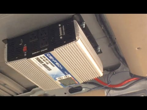 110 Volt Winch Wiring Diagram How To Install Inverter In Vehicle Youtube