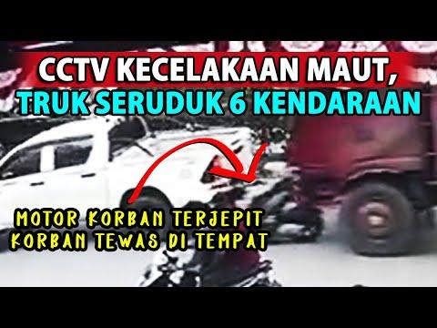 DETIK-DETIK KECELAKAAN MAUT!!! Truk Seruduk 6 Kendaraan