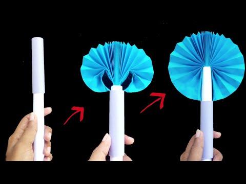 DIY Paper POCKET FAN || Summer Special Easy Paper Folding POCKET FAN Making Tutorial