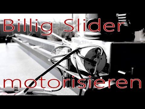 Kamera Slider mit Motor selbst bauen für 100€ incl. Slider