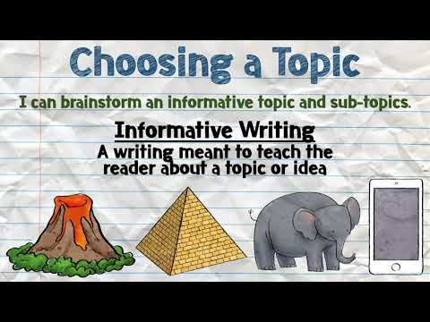 Informative Writing - Choosing a Topic
