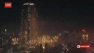 Новый год Фейерверки Дубай Dubai 2017   Burj Khalifa Фейерверки Прямая трансляция 2017