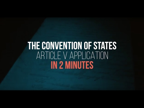 The Convention of States Article V Application