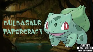 Pokemon |bulbasaur papercraft | speedcraft