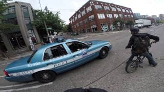 "Bicyclist pulled over for ""racing and speeding"""