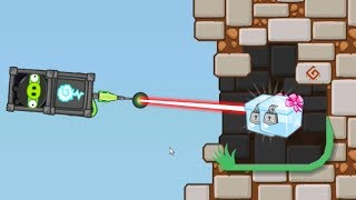 Bad Piggies - BAD PIGS SHOOTING AND TRICK SHOT PUNCH TO CRATE!