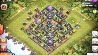 clash of clans town hall level 9 base design (without x-bow) #7