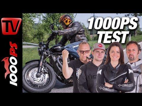 Triumph Bonneville Bobber Black Test - 1000PS Bobber Vergleich 2018 - täglich 1 Video