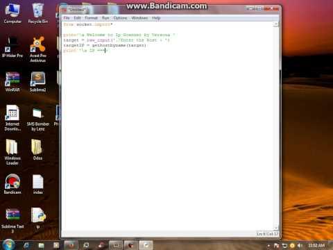 Python Language - IP Scanner -