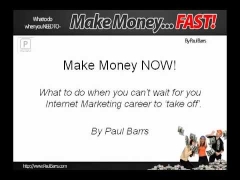 Need Money Now? Make Money Today - FAST - with this free training program