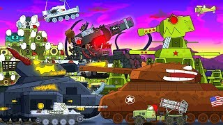 All series KV-44 against Steel Monsters - Cartoons about tanks