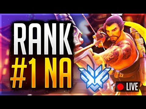 Overwatch Rank #1 NA Unranked to GM Flexing! 4646 SR Peak Rank 1 HanzoMEGALUL !member