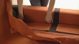 How To Install A Reversible Chaise Longue Cover