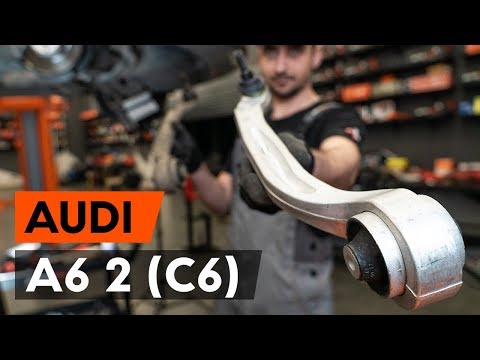 How to replace front suspension arm / front control arm on AUDI A6 2 (C6) [TUTORIAL AUTODOC]