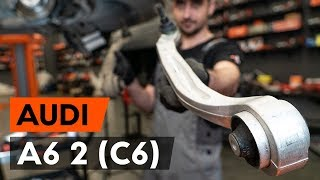 How to replace Suspension arm on AUDI 200 Avant (44, 44Q) - video tutorial