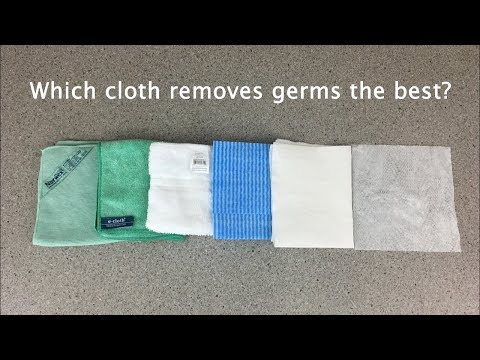 Which cleaning cloth removes germs the best?