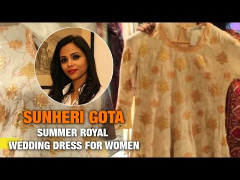 Sunheri Gota: Summer Royal Wedding Dress For Women   The Ethnic Attire