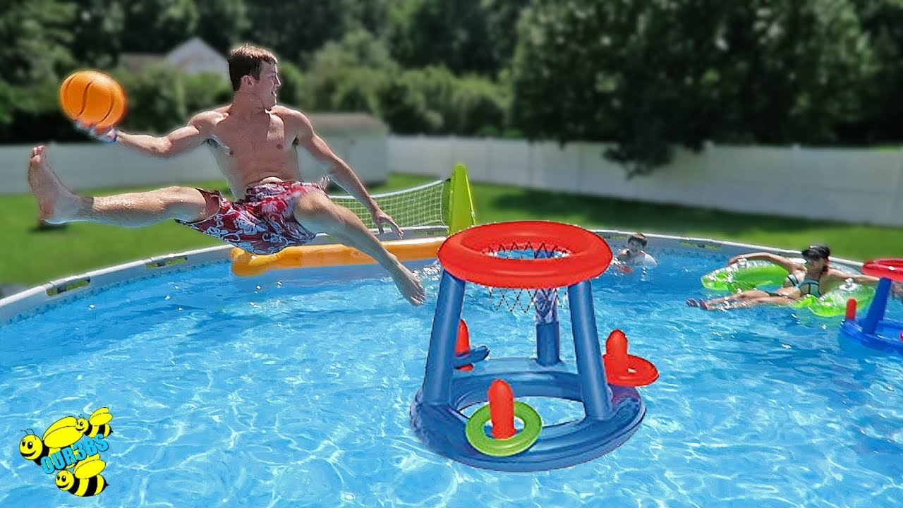 Extreme Swimming Pool Basketball Game Youtube