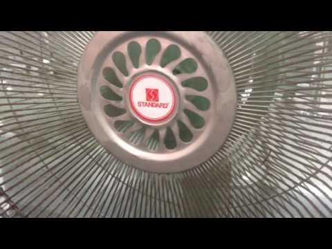 "Standard brand industrial/commercial 30"" pedestal fans in a restaurant"
