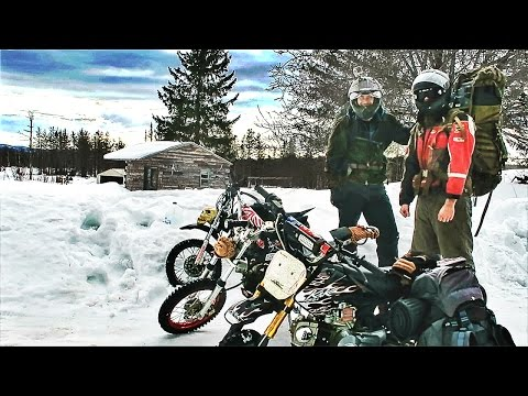 SLEEPING IN AN ABANDONED CABIN !! ( PITBIKE ADVENTURE )