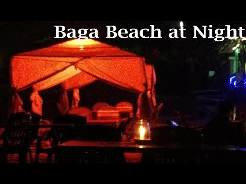 Baga Beach Goa Candle Light Dinner On In For Honeymoon S At Night