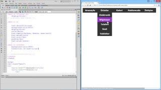 CSS ile Yatay Açılır Menü Yapımı 1