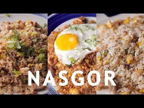 BAHAN-BAHAN: 1 mangkuk nasi Sawi secukupnya Kaldu jamur secukupnya Kecap manis secukupnya Minyak untuk menumis....