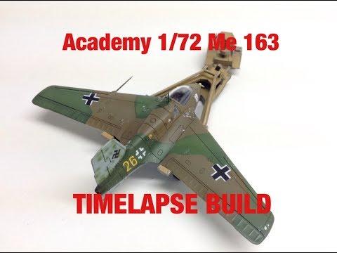 Academy 1/72 Me 163- TIMELAPSE BUILD