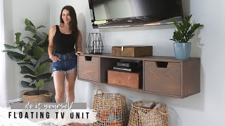 How To Build An EASY Floating Entertainment Unit    DIY Wall Mounted TV Stand