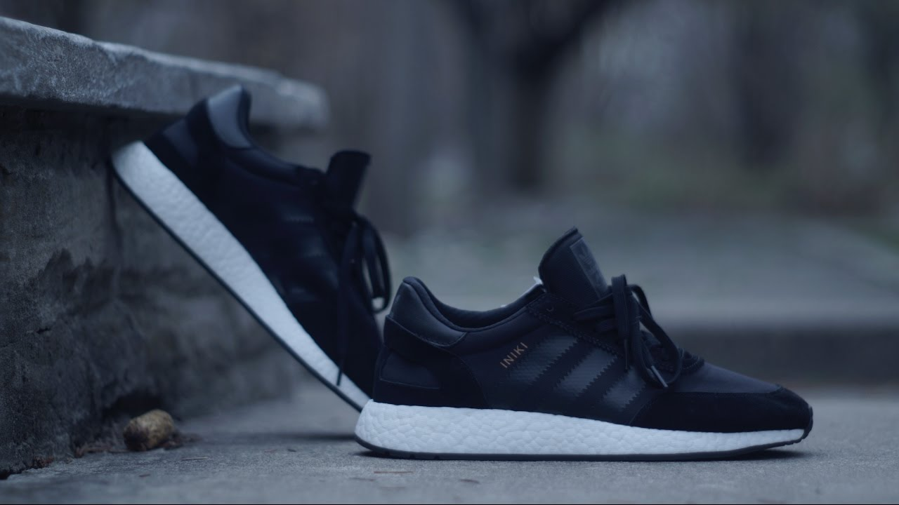 ADIDAS BOOST - INIKI RUNNER   CORE BLACK + ON FOOT - YouTube c337a551d