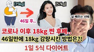 46일만에 18kg 감량시킨 다이어트 방법 알려드립니다…