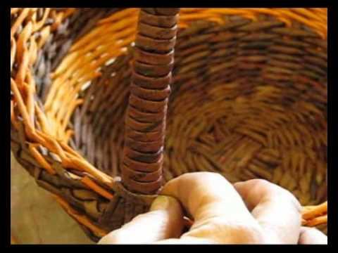 0 - Як зробити ручку для кошики з газетних трубочок?