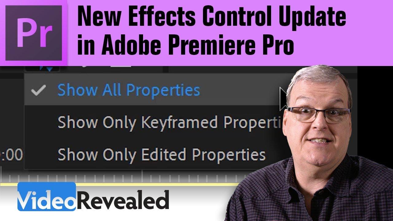 New Effect Control Update in Adobe Premiere Pro